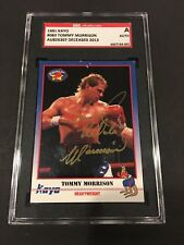 1991 KAYO #060 TOMMY MORRISON BOXING CHAMP SIGNED BOXING CARD DIED.2013