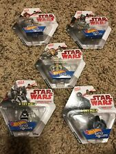 Hot Wheels Star Wars Battle Rollers Race and Crash Full Set Lot of 5 New 2017