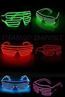 LED Shutter Glasses EL Neon Flashing Blink Funny Sunglasses Bar Party Props LOT
