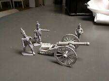 54 mm military figures Napoleonic French Cannon w/ crew