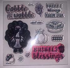 B1687 Gobble Til You Wobble acrylic stamp set