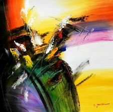 Abstract-Impact Study g92047 80x80cm astratto restaurando