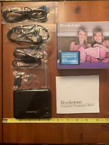 Brookstone Pocket Projector Slim New Never Used