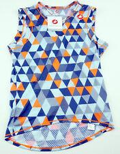 Castelli Pro Mesh Men's Cycling Sleeveless Baselayer Small Blue Orange
