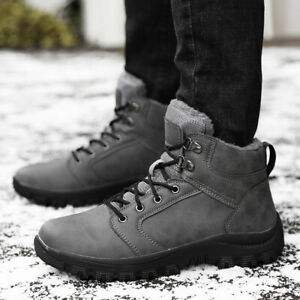 Mens Outdoor Hiking Sports Walking Waterproof Warm Winter Snow Ankle Boots Shoes