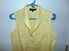 JONES NEW YORK  Collection Women's Sleveleess Top. Yellow Size 10
