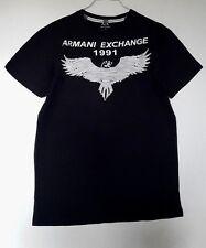 ARMANI EXCHANGE T-SHIRT HOMME EN COTON COLORIS NOIR IMPRIME TAILLE L
