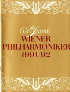 George Pretre, autographs in program, VPO Vienna  19.1.1992