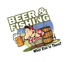Funny BEER & FISHING WHAT ELSE IS THERE Tackle Box vinyl car sticker decal