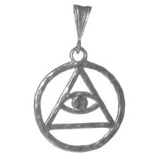 AA Alcoholics Anonymous Jewelry Symbol Pendant,#1158 Large Size, Sterling Silver