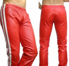 GLS LEDER Jogginghose Lederjeans Trainingshose cuir pantalon leather gay *L* 020