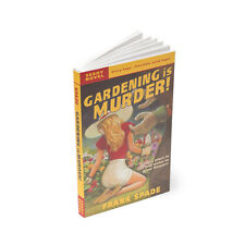 GARDENING IS MURDER! Pulp Novel Plantable Seed Paper Indoor Gardening education