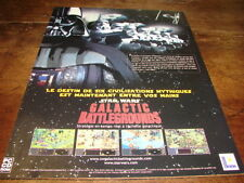 STAR WARS - Publicité de magazine GALACTIC BATTLEGROUNDS !!!!!!!!!!!!