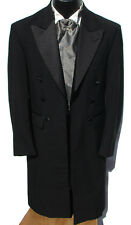 40S Black Frock Coat Western Costume Victorian Civil War Lincoln Steampunk