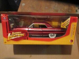 1964 64 Chevrolet Impala Chevy Johnny Blanc Pneus Lightning Muscle Voitures J L