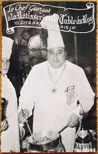 1940 Realphoto Advertising Postcard - Chef, Rotisserie de la Table du Roy, Paris