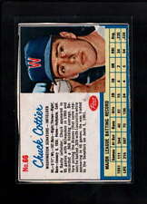 1962 POST CEREAL #66 CHUCK COTTIER VG-EX F1913