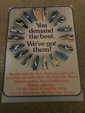 1977 NIKE RUNNING SHOES Poster Print Ad WAFFLE TRAINER ELITE LD-1000 VAINQUEUR