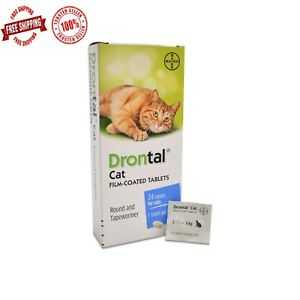 Bayer Cat Dewormer Treatment for Tape & Round Worm 16 Tabs