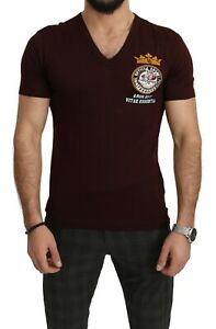 DOLCE & GABBANA T-shirt Bordeaux Cotton Angel King s. IT48 / US38 / M