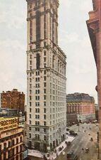 OLD Postcard Circa 1910 NYC TIMES BUILDING New York City MANHATTAN Newspaper
