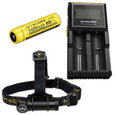 Nitecore HC30W XM-L2 LED Headlamp 1000Lm w/ D2 Charger & NL189 18650 Battery