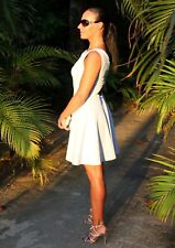 Light blue, party dress with Swarovski crystal Handmade, Designer size 10