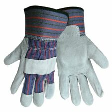 1 PAIR ECONOMY REINFORCED SPLIT LEATHER PALM WORK SAFETY GLOVE 2300-L SIZE LARGE