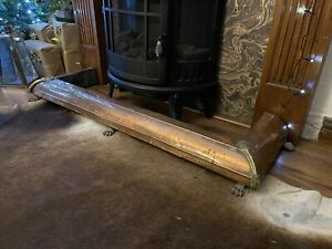 Antique Arts And Crafts Fire Fender Brass And Copper. Very Ornate