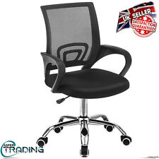 Luxury Home Office Computer Laptop High Back Arm Chair Adjustable Swivel Lift UK