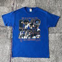 MLB New York Mets 50th Anniversary Baseball Shirt Mens Large