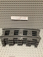 LEGO - 1 SET OF 4 LEGO TRAIN CURVE TRACKS GREY COLOUR - BRAND NEW MELB SELLER