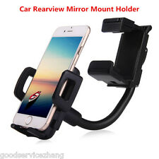 Car Rear View Mirror Mount Cradle Stands Cell Phone Holder Universal For iPhone