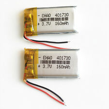 2 pcs 3.7V 160mAh Lipo Rechargeable Battery for MP3 DVD PSP GPS 401730 bluetooth