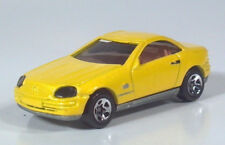 "Hot Wheels Mercedes SLK 2.5"" Diecast Scale Model Yellow 5 Spoke Wheels"