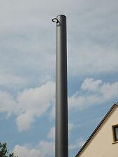 Sonnensegelmast Sonnensegelpfosten 2 Ösen 2,5m ∅60mm Anthrazit beschichtet