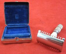 Vintage HOFFRITZ Open Tooth Travel SAFETY RAZOR DE Germany Original Box German