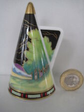 ROYAL WORCESTER BLUE LAGOON ART DECO CANDLE SNUFFER CONNOISSEUR COLLECTION