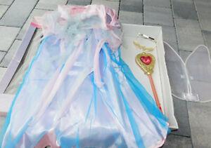 ROBE DRESS de princesse BARBIE raiponce RAPUNZEL MATTEL deguisement COSTUME fée