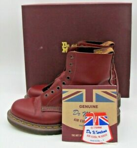 Doc Dr Martens 8 M AirWair Oxblood 8 Eyelet Boots Made in England