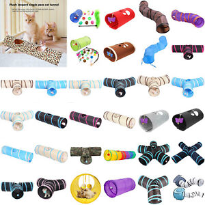 Various Shapes Foldable Pet Cat Tunnel Cute Toys Animal Kitten Rabbit Play Tubes