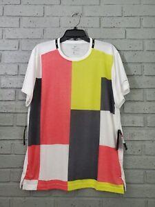 Nike Dri-Fit Training Color Block T-Shirt CJ4742 Multicolor Mens L NWT $40