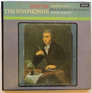 HAYDN The Symphonies 65 - 72 DECCA 4 x LP BOX SET STEREO HDNF 27-30 Antal Dorati