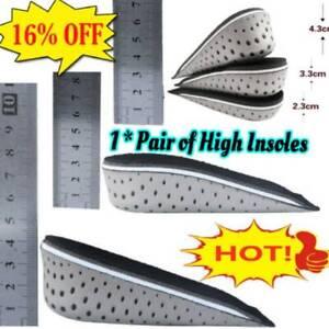Unisex Insole Heel Lift Insert Shoe Pad Height Increase Cushion Elevator  Hot