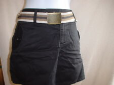 Victorias Secret Vintage Cotton Twill Shorts w/Belt Size 4 Black   NWOT