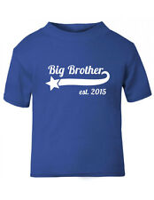 Big brother boys' t-shirt, sizes 6-12 months up to 5-6 yrs, blue or red, cotton