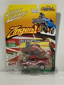 1973 Chevy Cheyenne 10 Frankly Red Black 1:64 Johnny Lightning JLSF019A