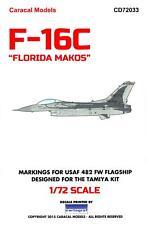 Caracal Decals 1/72 GENERAL DYNAMICS F-16C FLORIDA MAKOS