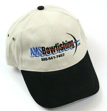 """Ams Bowfishing Logo Hat """"What Are You Shooting?"""", Beige with Black Bill"""