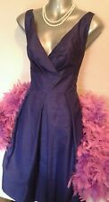 Size 14 M&S dress 40s 50s style Cocktail Evening Cruise elegant party Occasion